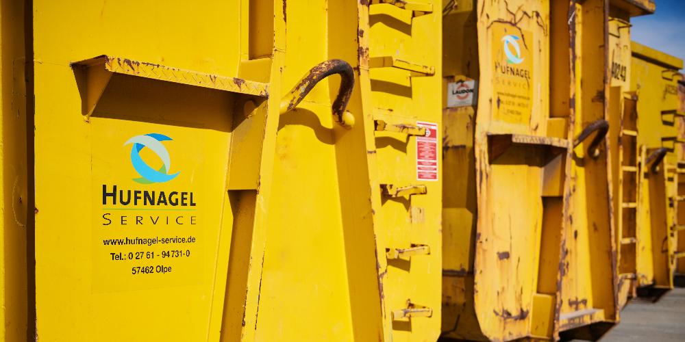 Hufnagel Service: Karriere Symbolbild für die Stelle Mitarbeiter Behältermanagement (m/w/d)